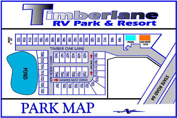 Timberlane Rv Resort Park Map Timberlane Rv Park And Resort